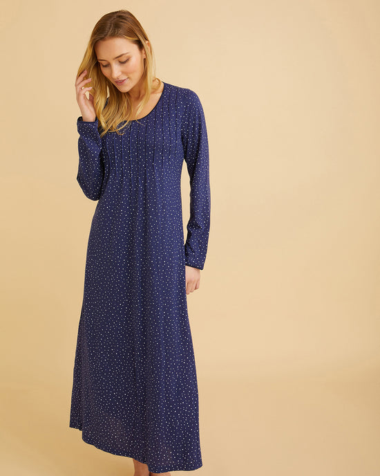 Women's Jacquard Dressing Gown - Blue