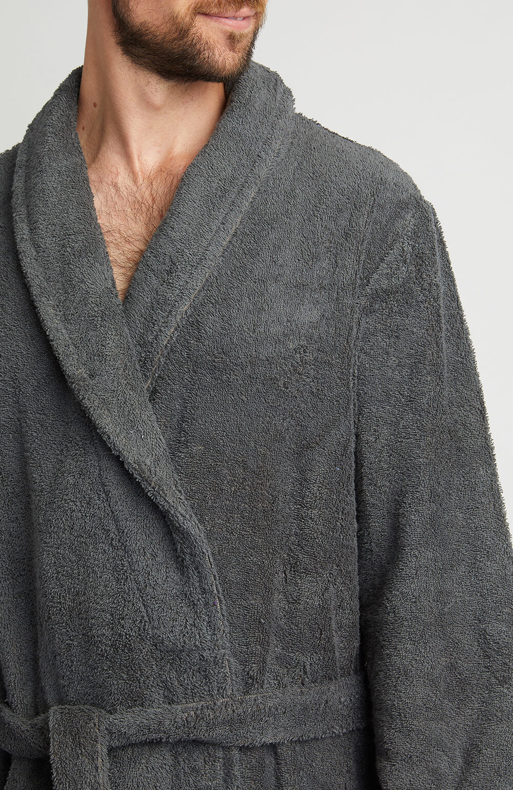 Unisex Towelling Robe (scbr) - Charcoal