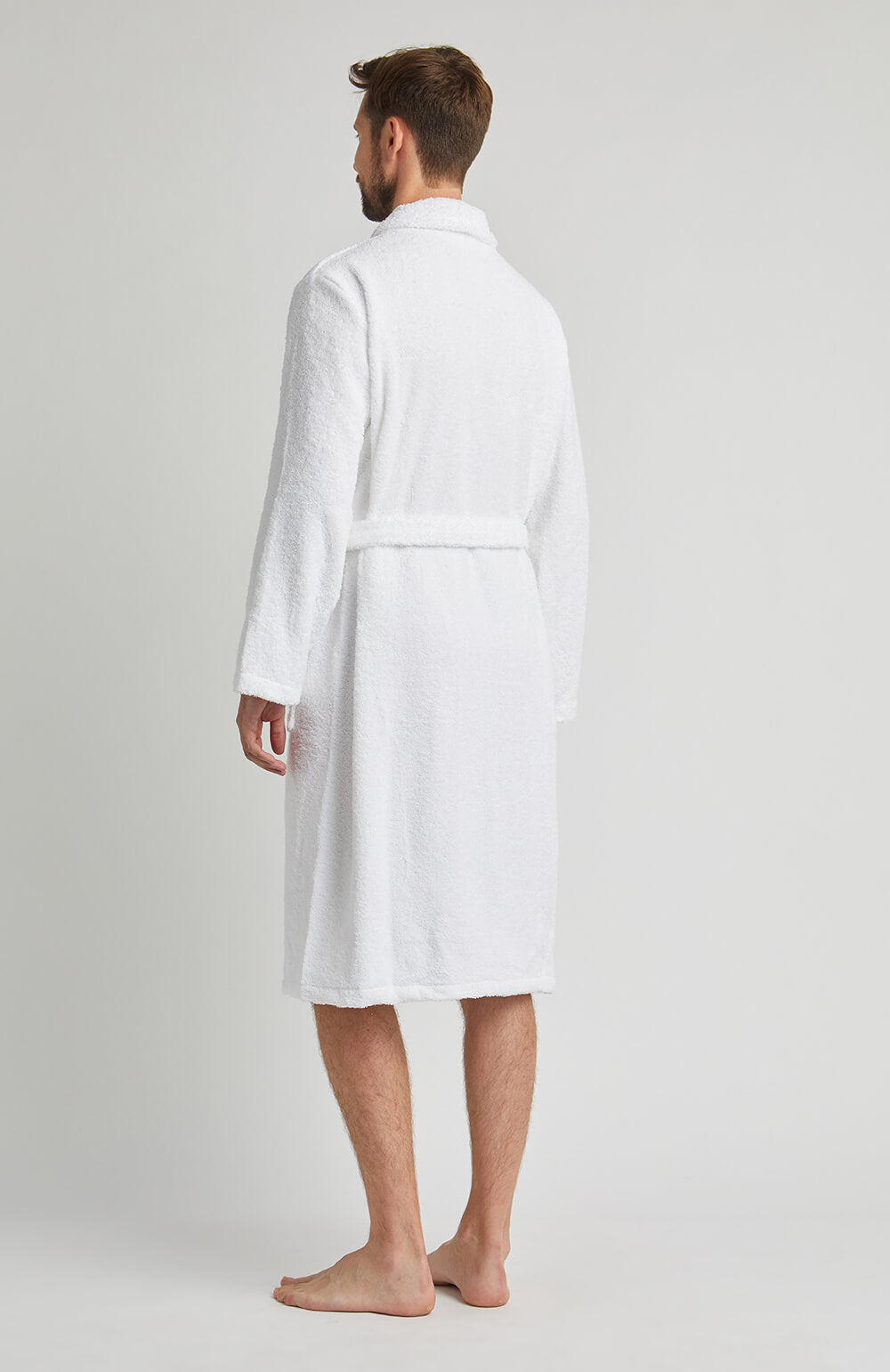 Towelling Robe White | Bonsoir of London