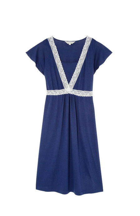 Maternity & Nursing Short Sleeve Jersey Nightdress (mlns) Midnight