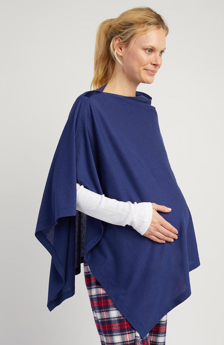 Maternity & Nursing Jersey Shawl (mswl) Midnight