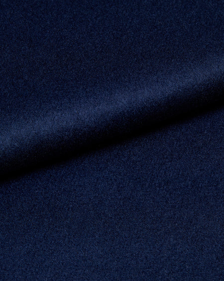 Women's Silk-Lined Cashmere Robe - Navy