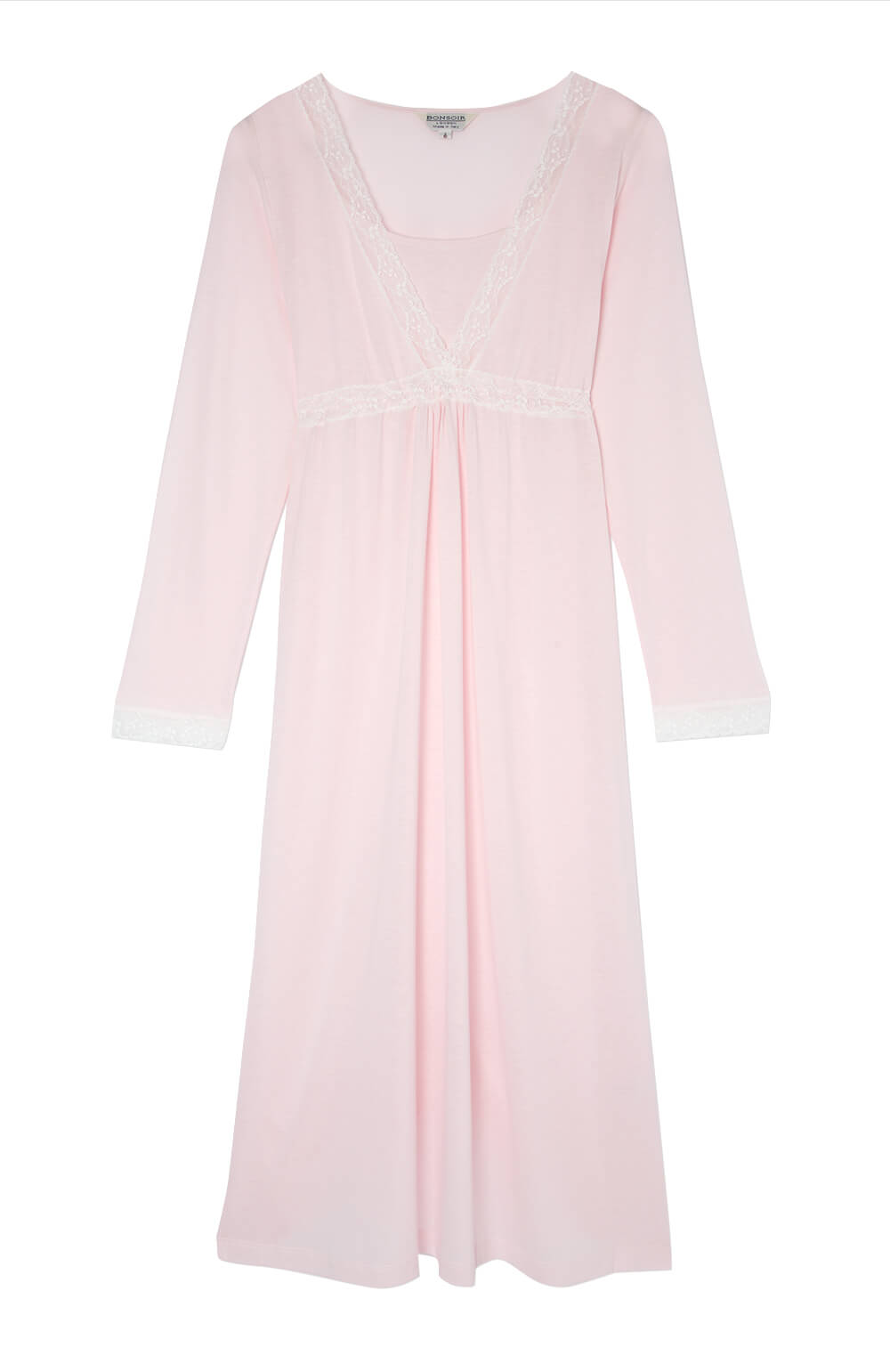 Maternity & Nursing Long Sleeve Jersey Nightdress (mlnl) Soft Pink