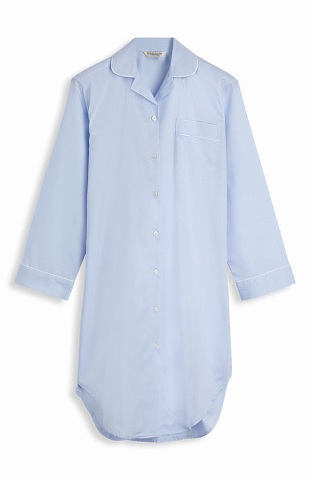 Jacquard Button Nightshirt (qlnb) - Blue