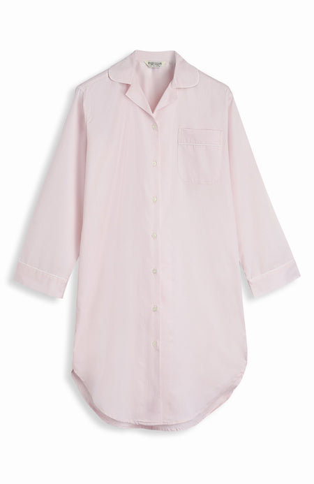 Jacquard Button Nightshirt (qlnb) - Pink