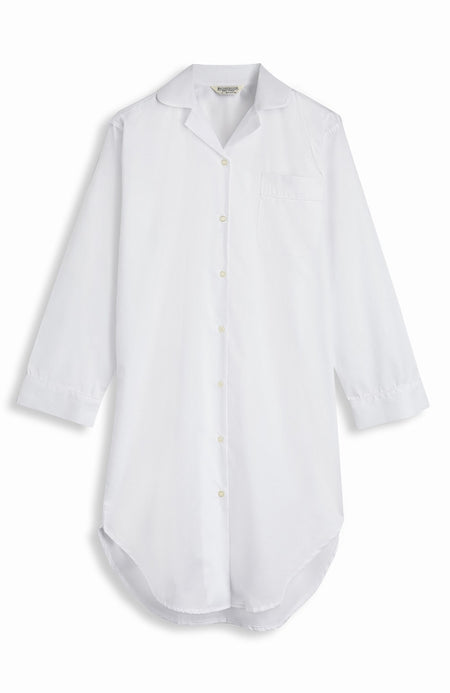Jacquard Button Nightshirt (qlnb) - White