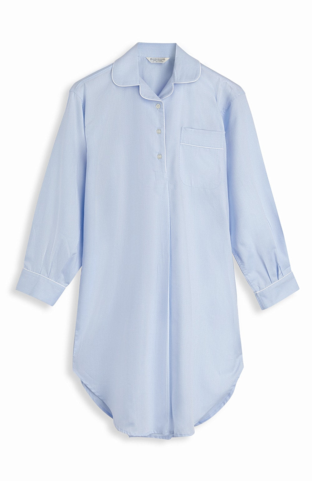 Jacquard Short Length Nightshirt (qlns) - Blue