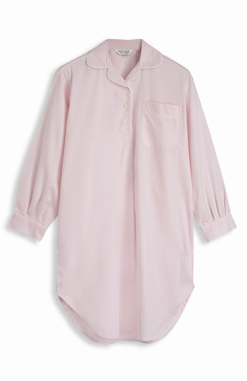 JACQUARD SHORT LENGTH NIGHTSHIRT - PINK