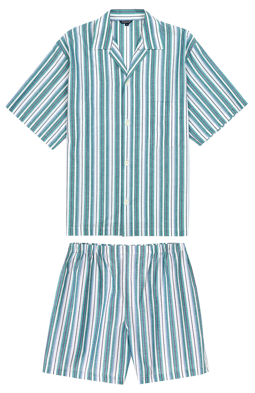 Regatta Green Stripe Short Pyjamas | Bonsoir of London