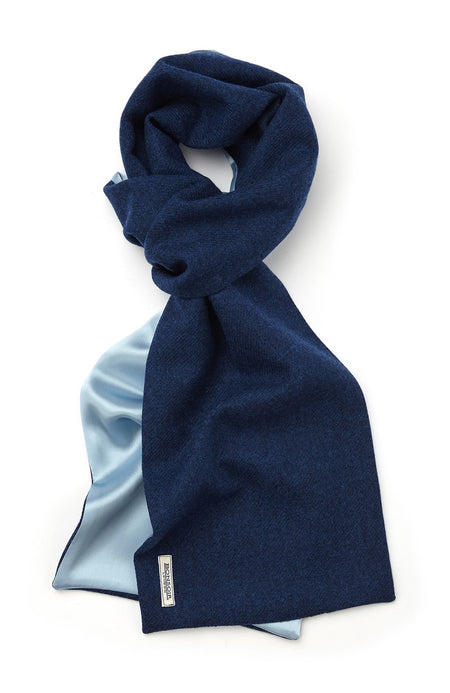 Wool & Silk Scarf (scfb) - Royal Blue