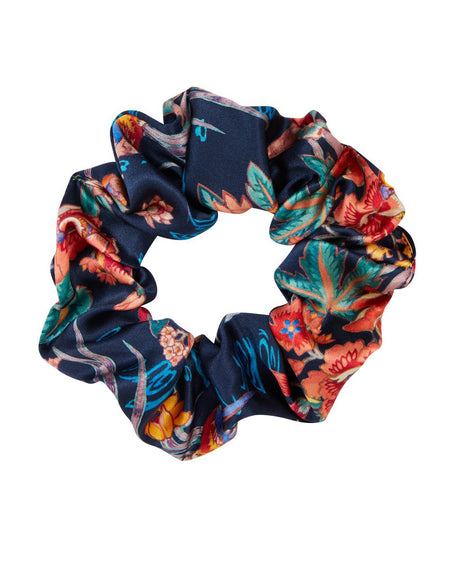 Silk Scrunchy in Ada | Bonsoir of London