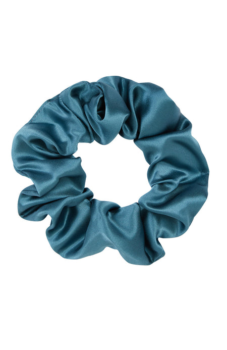 Silk Scrunchy in Teal | Bonsoir of London