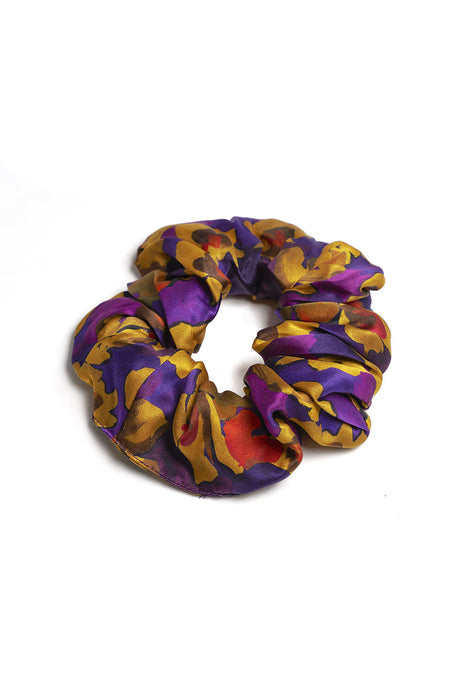 Silk Scrunchy in Jemima | Bonsoir of London