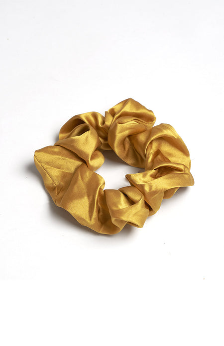 Silk Scrunchy in Sienna | Bonsoir of London