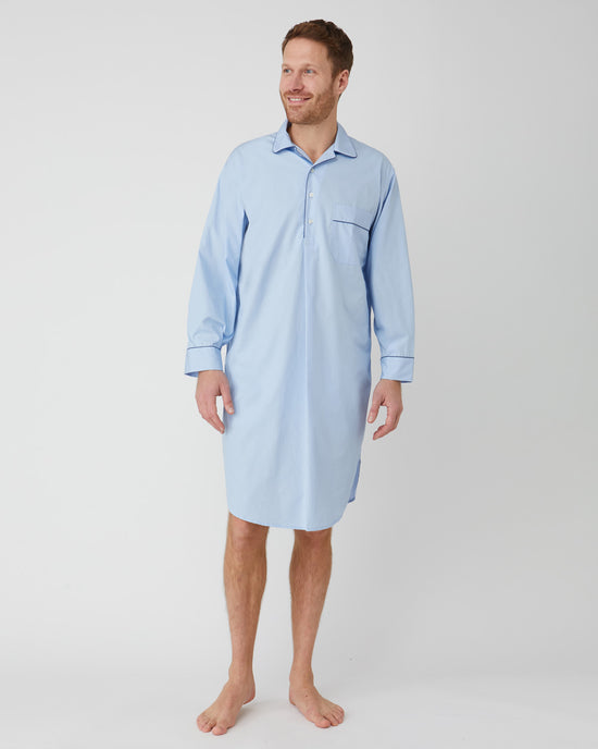 Women's French Pleat Long Sleeve Nightdress - Midnight