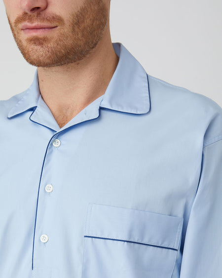 Men's Cotton Nightshirt (emnm) - Sky