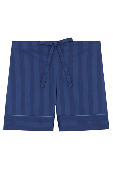 Satin Stripe Shorts (slfs) - French Navy