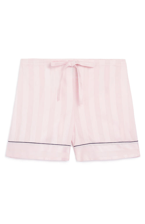 SATIN STRIPE SHORTS - PINK