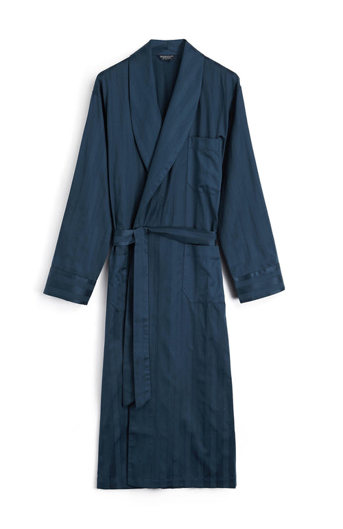 Satin Stripe Gown (smdg) - Navy