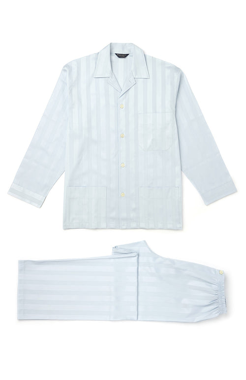 Satin Stripe Pyjamas (smpe) - Sky