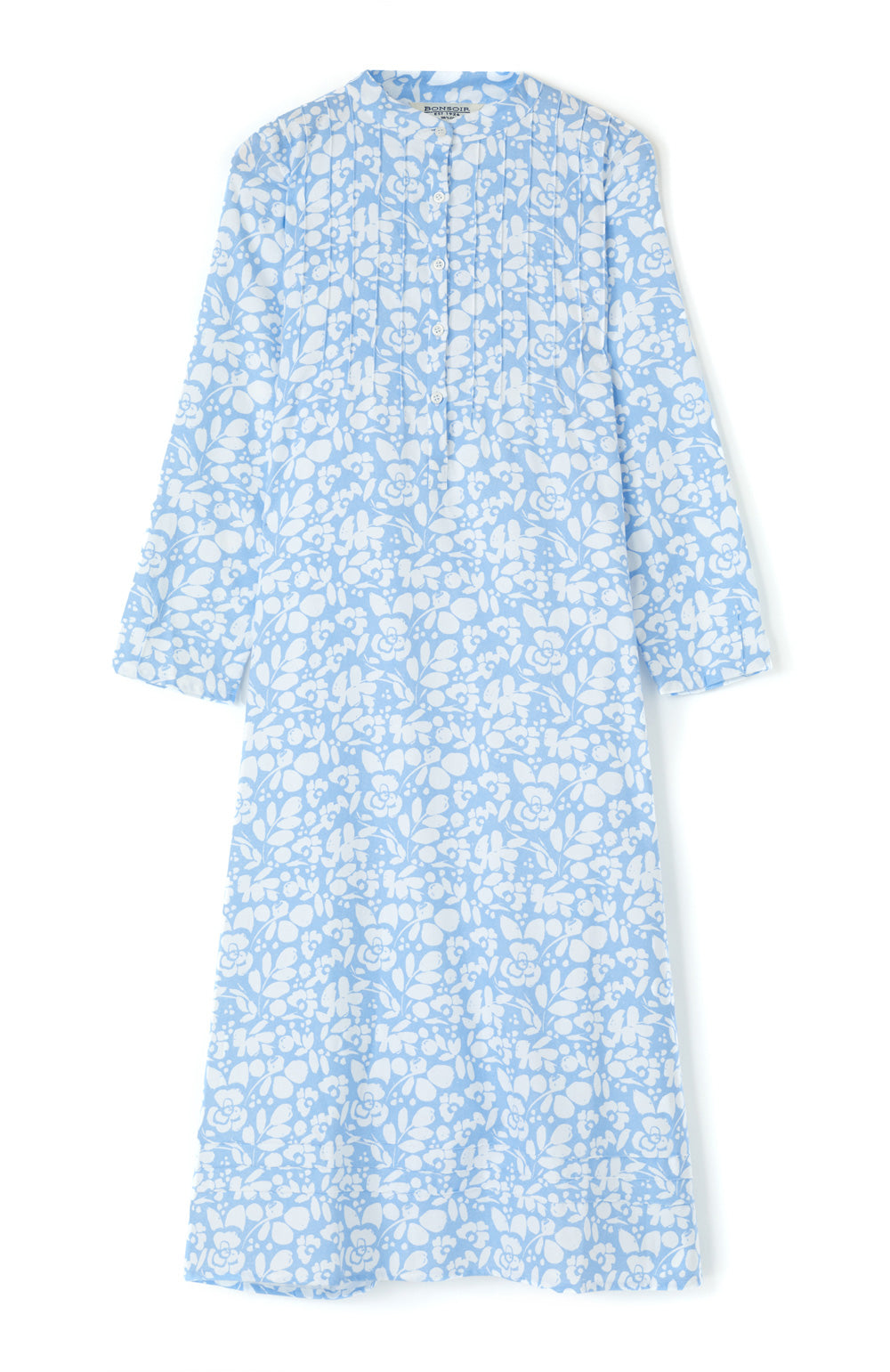 Sophie Blue Floral Nightdress | Bonsoir of London
