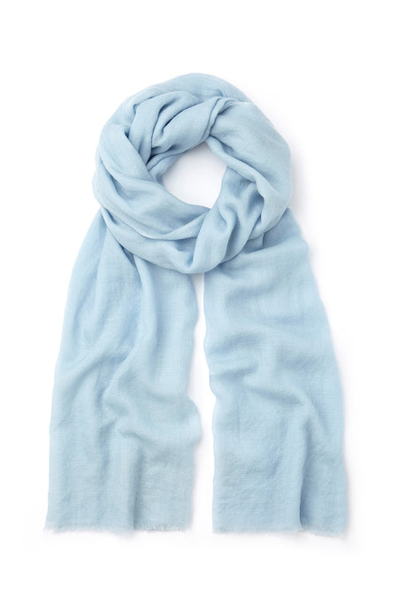 Cashmere Scarf (stle) - Sky | Bonsoir of London