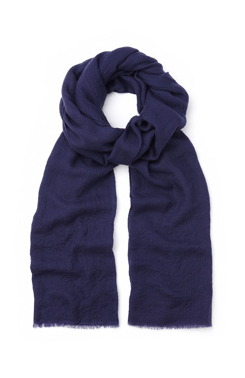Cashmere Scarf (stle) - Blue | Bonsoir of London