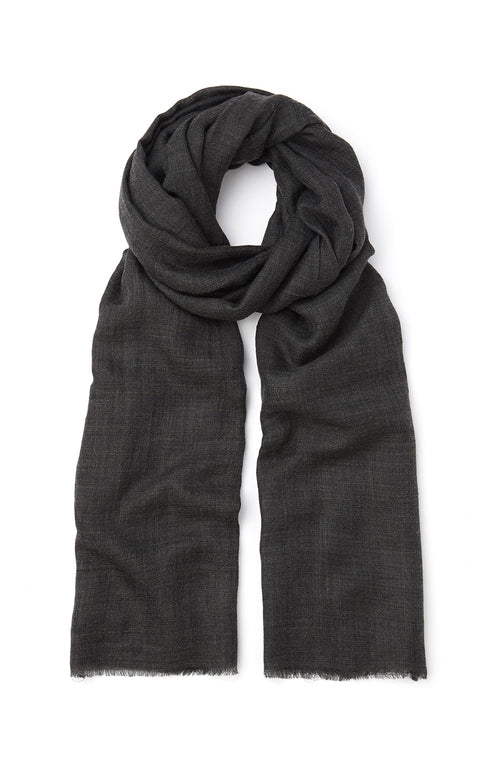 Cashmere Scarf (stle) - Charcoal | Bonsoir of London