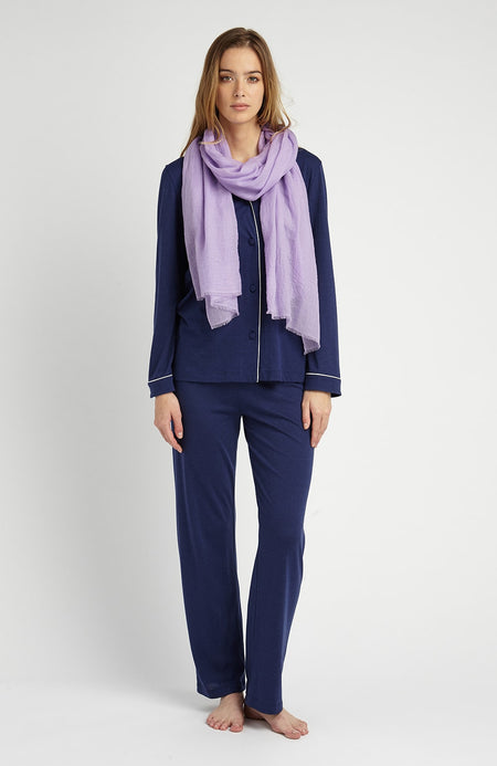Cashmere Scarf (stle) - Lilac | Bonsoir of London
