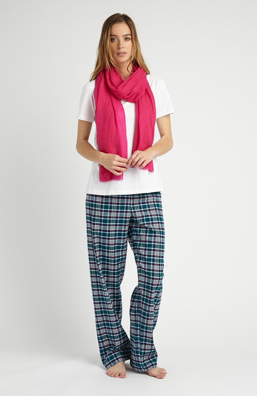 CASHMERE SCARF - PINK | Bonsoir of London