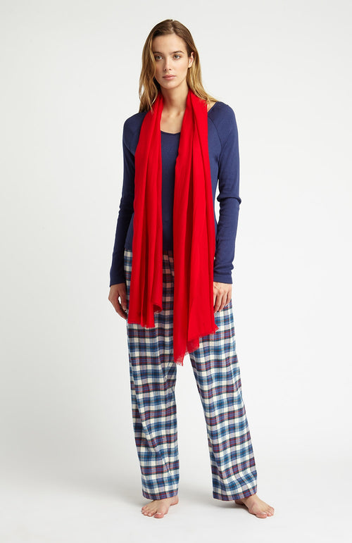 CASHMERE SCARF - RED | Bonsoir of London