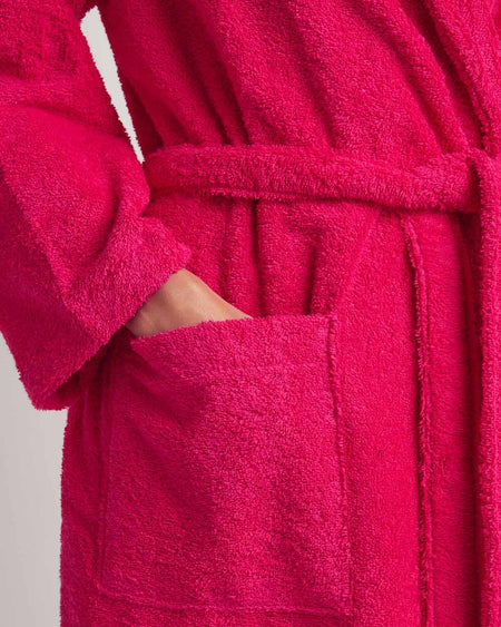 Women's Towelling Robe (scbr) - Fuchsia | Bonsoir of London