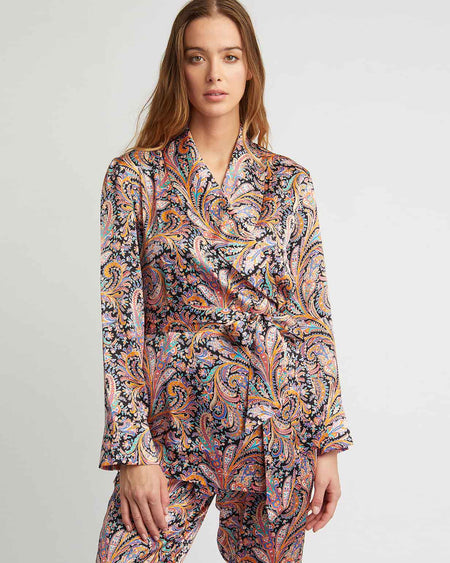 Women's Silk Jacket - Paisley