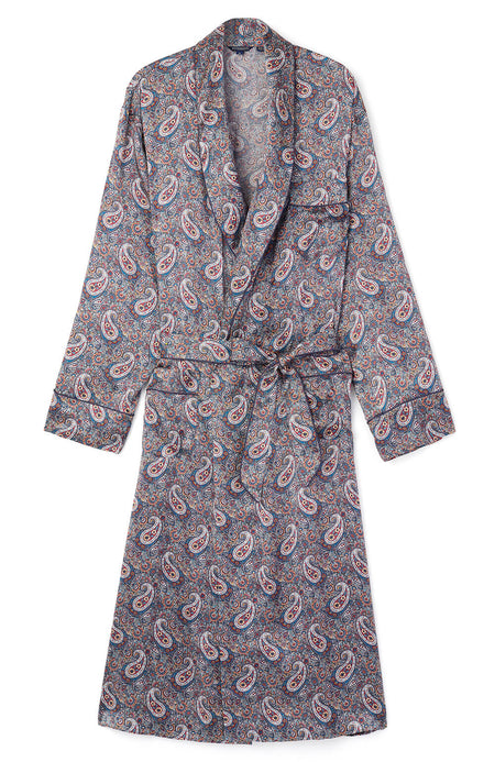 Luxury Red Paisley Silk Robe | Bonsoir of London