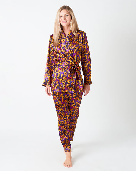 Women's Silk Jemima Lounge Trousers | Bonsoir of London