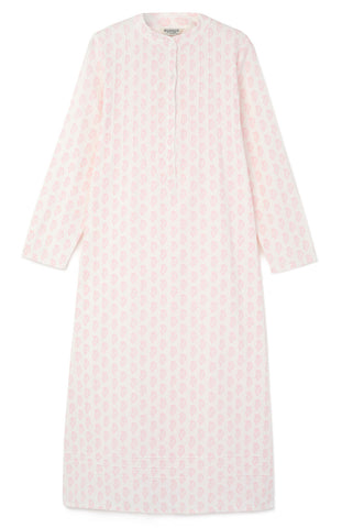 Brushed Pastel Gown (bldg) - Pink Stripe