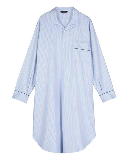 Men's Two-Fold Cotton Nightshirt (2mnm) - TF27
