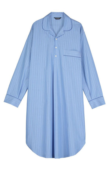 Men's Two-Fold Cotton Nightshirt (2mnm)- Tf28