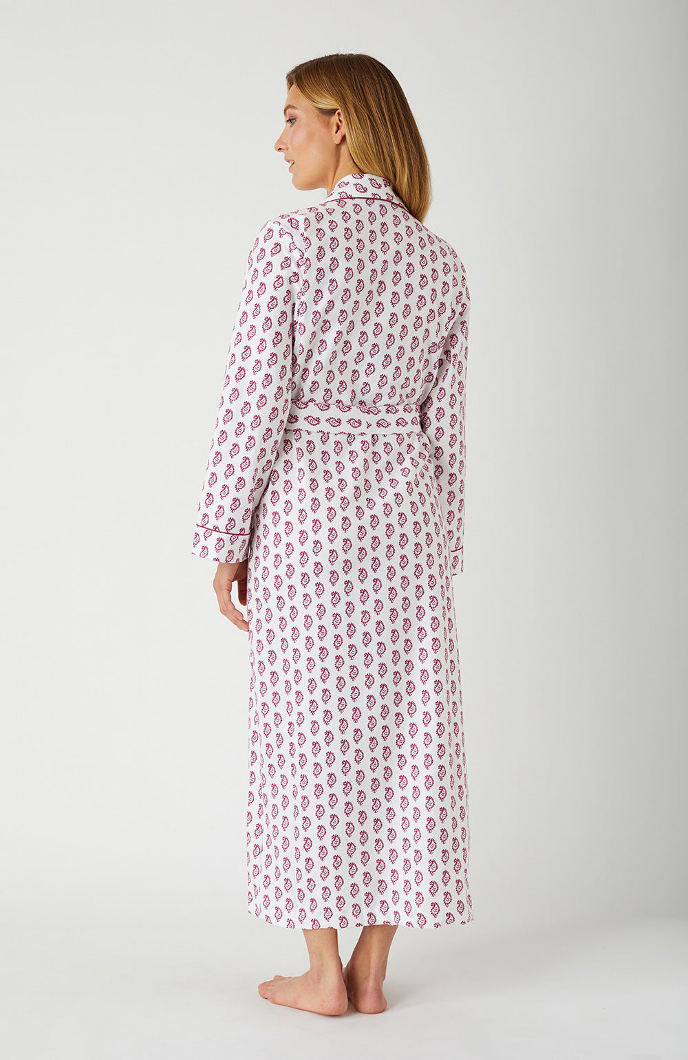 Brushed Cotton Berry Paisley Gown | Bonsoir of London