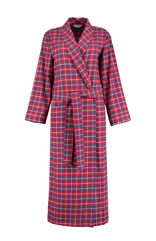 Brushed Tartan Gown (tldg) - Highland Plaid | Bonsoir of London