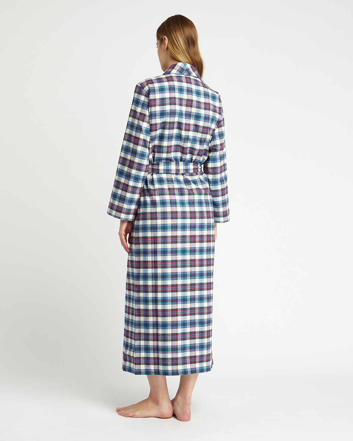 Brushed Tartan Gown (tldg) - Lulworth | Bonsoir of London