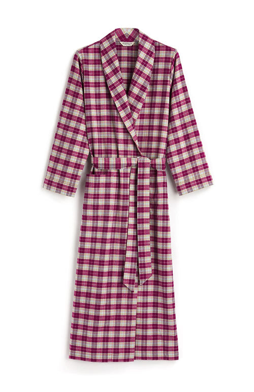Brushed Tartan Gown (tldg) - Melbury | Bonsoir of London