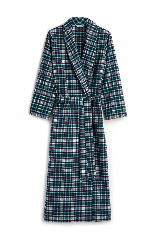 BRUSHED TARTAN GOWN - PURBECK