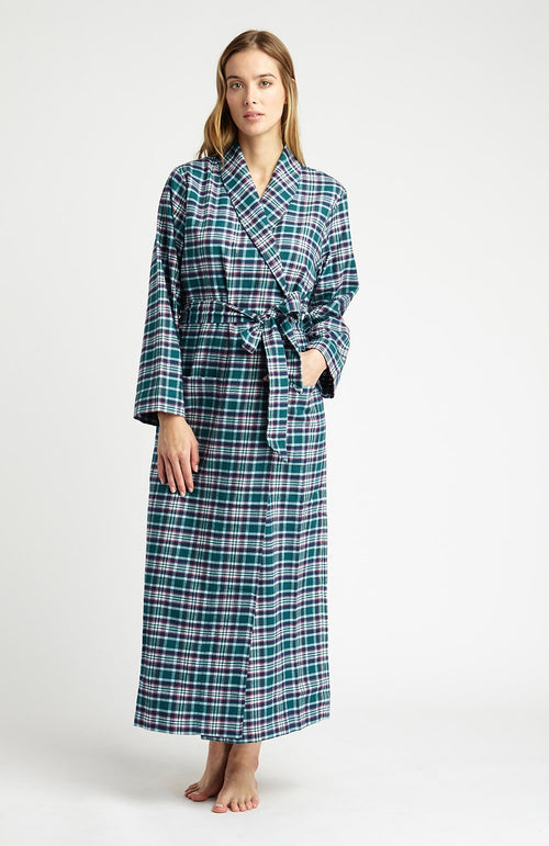 Brushed Tartan Gown (tldg) - Purbeck | Bonsoir of London