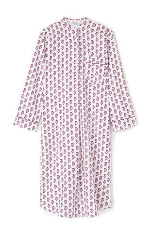 Brushed Cotton Nightshirt (Blna) - Pink Floral