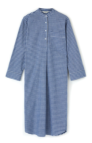 Brushed Cotton Nightshirt (blnf) - Blue Paisley