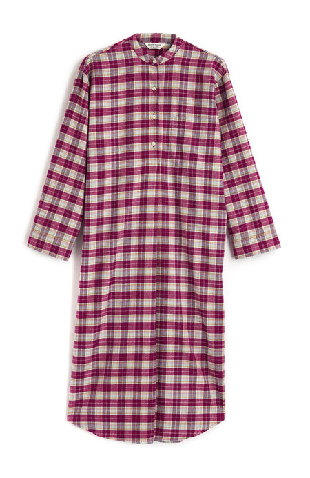 Brushed Cotton Melbury Grandad Nightshirt | Bonsoir of London