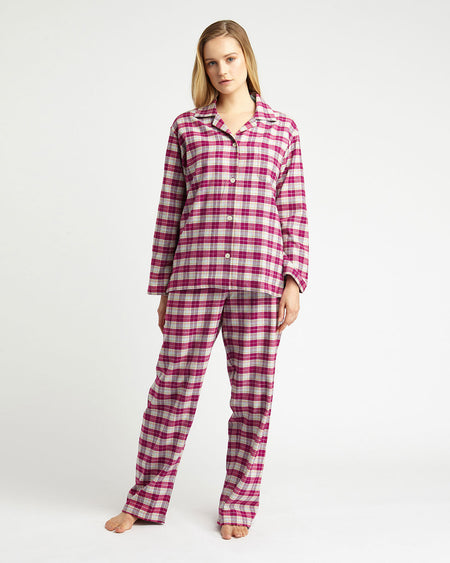 Women's Brushed Cotton Pyjamas - Melbury Plaid