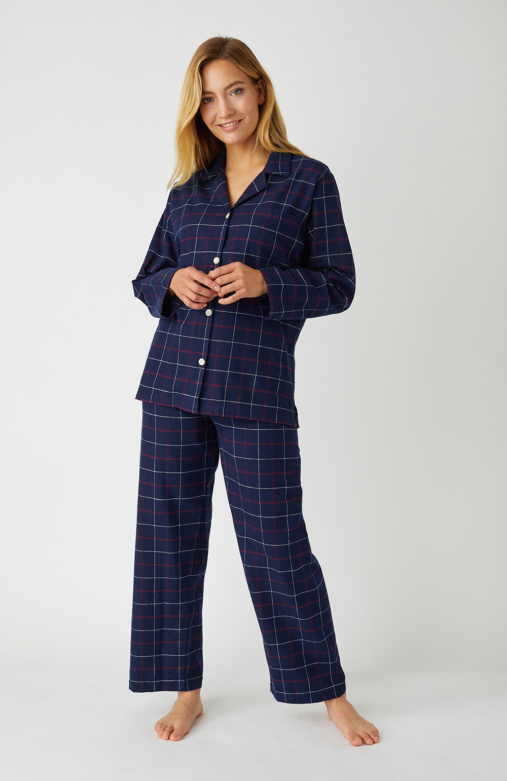 Brushed Cotton Pembury Pyjamas | Bonsoir of London