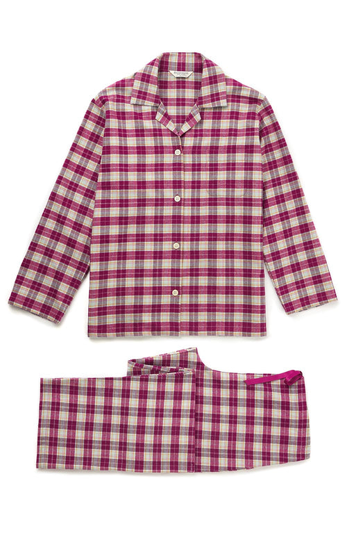 Brushed Tartan Pyjamas (tlps) - Melbury | Bonsoir of London